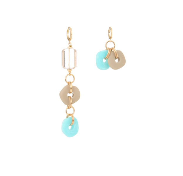Asymmetrical earrings Long Lucky