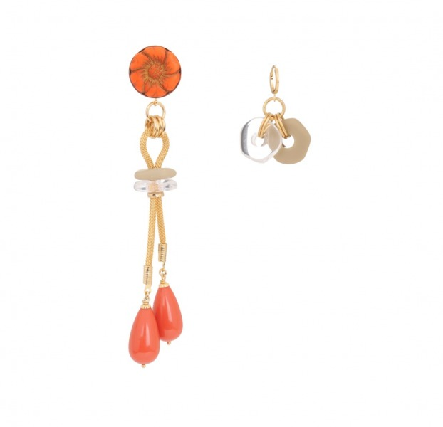 Asymmetrical earrings Lucky