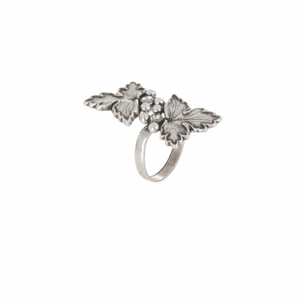 Ring Feuille double silver