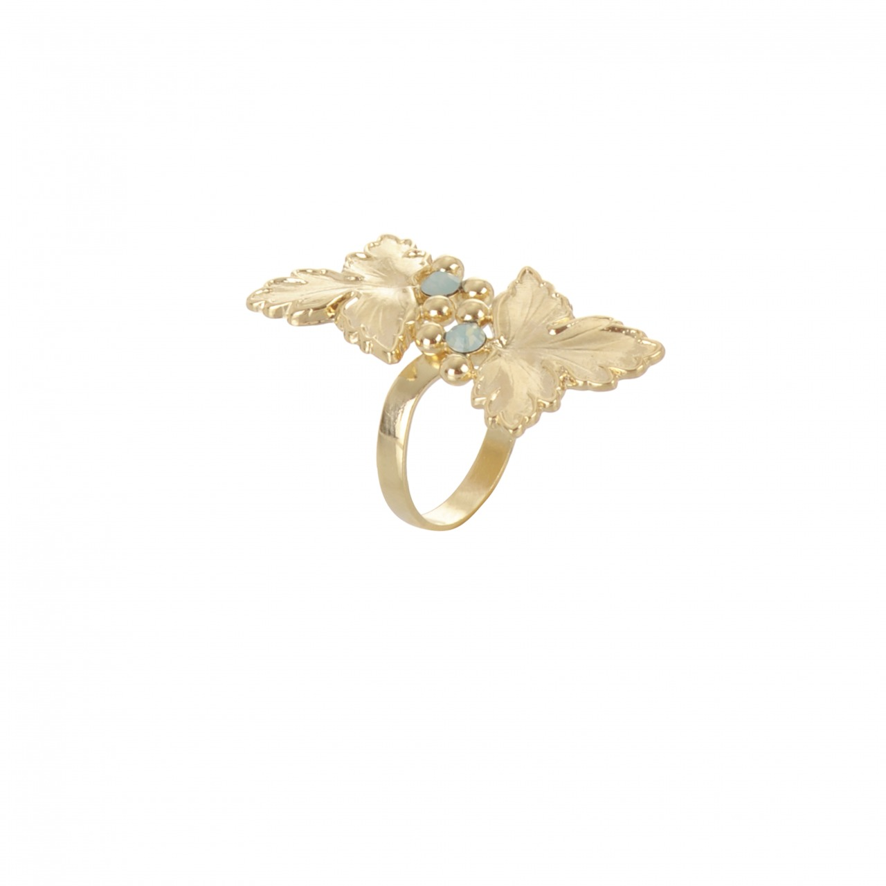 Ring Feuille double gold