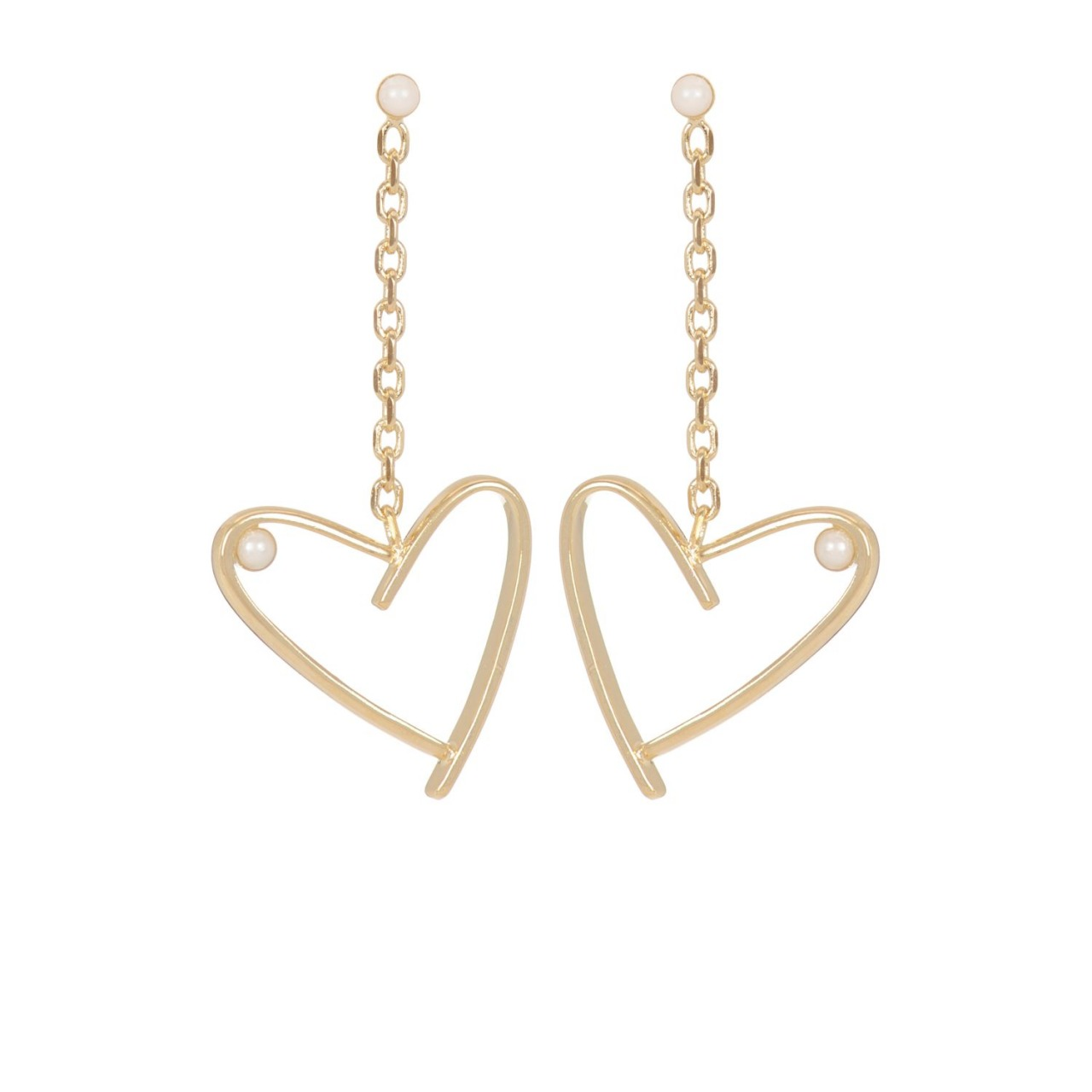 Earrings Amore Chain Gold