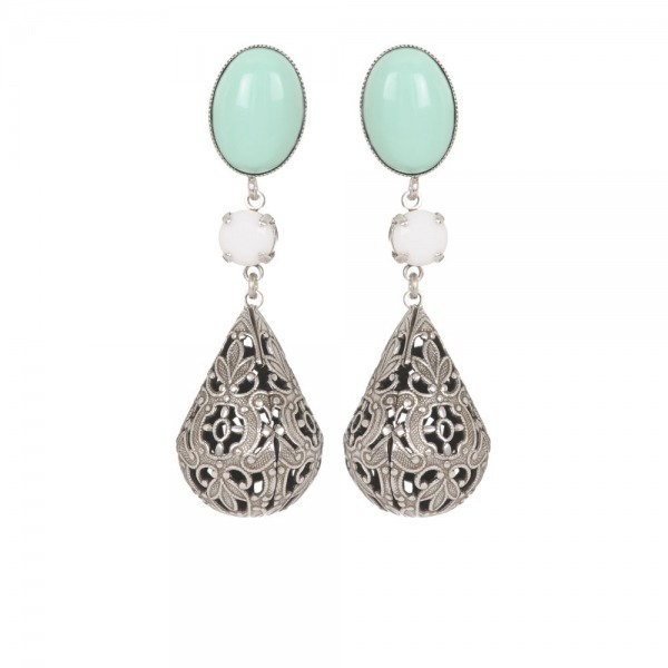 Earrings Baroque Silver