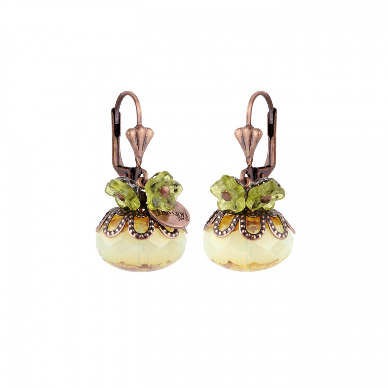 Boule earrings copper