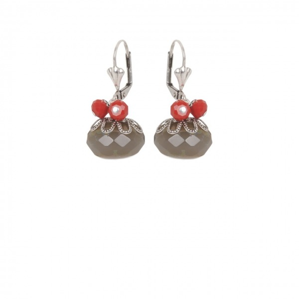 Earrings Boule Silver
