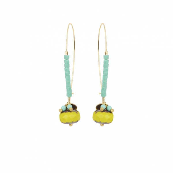 Boule mini dormeuse earrings
