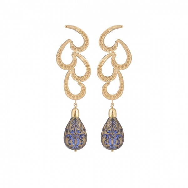 Cachemire Paon earrings