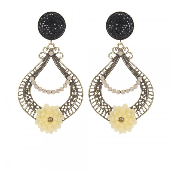 Earrings Eclipse Stamp (Black bottom)