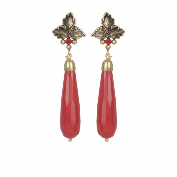 Earrings Feuille goutte