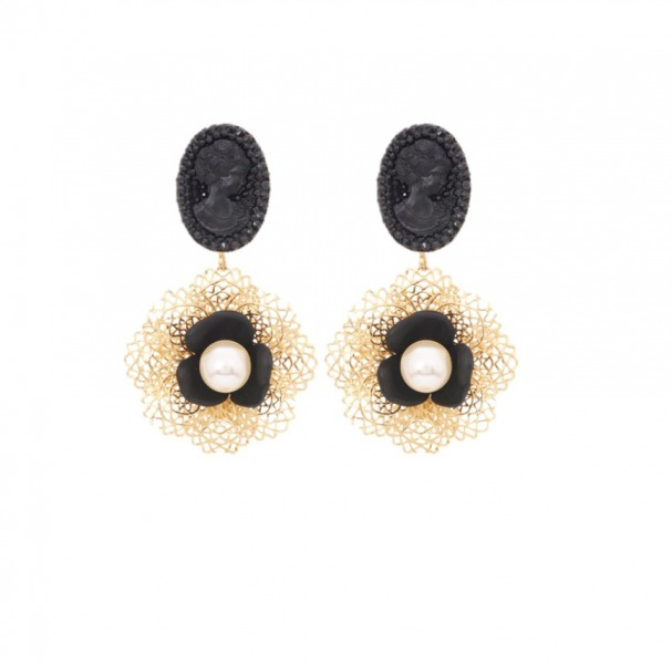 Flamenco short earrings