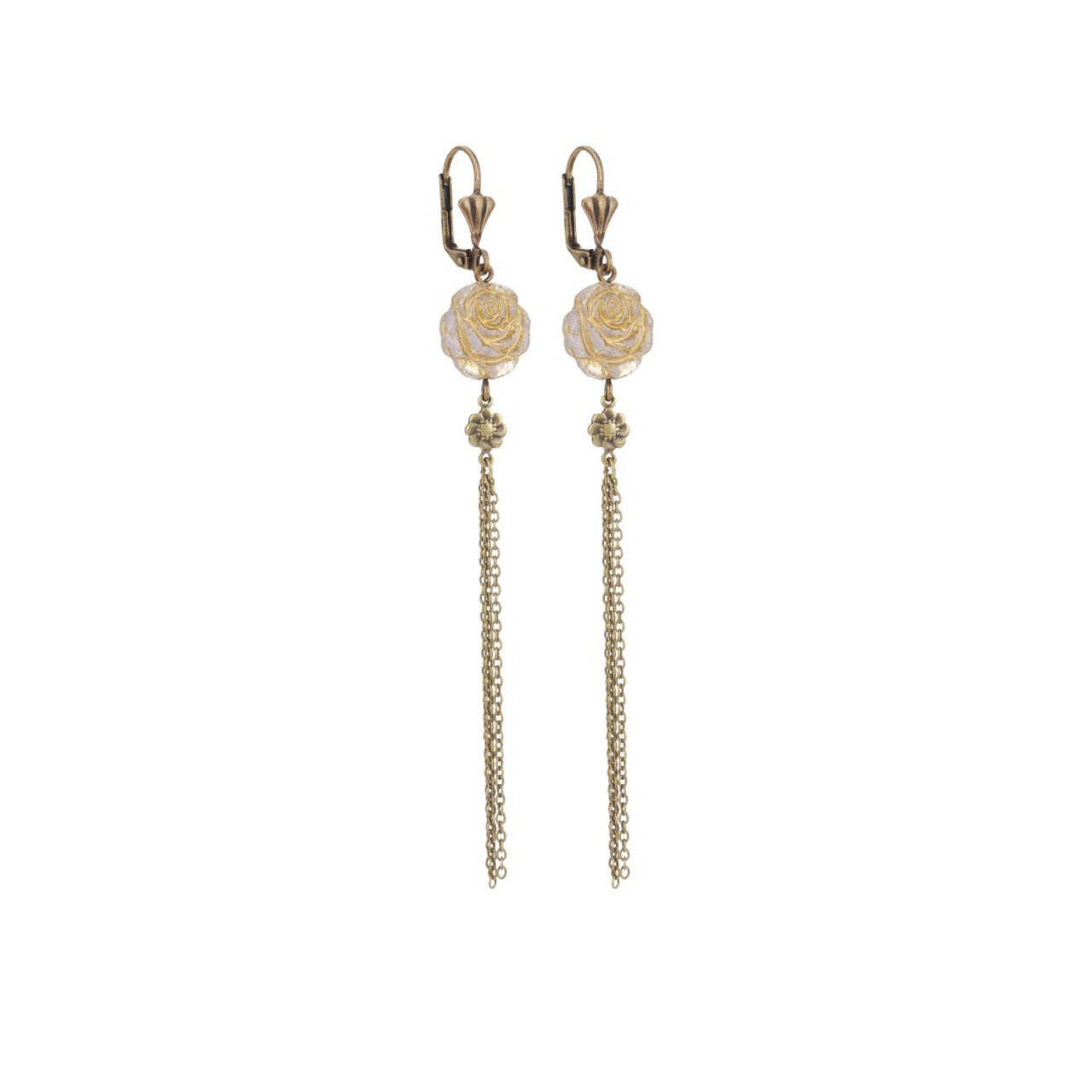 Moon Dormeuses Earrings