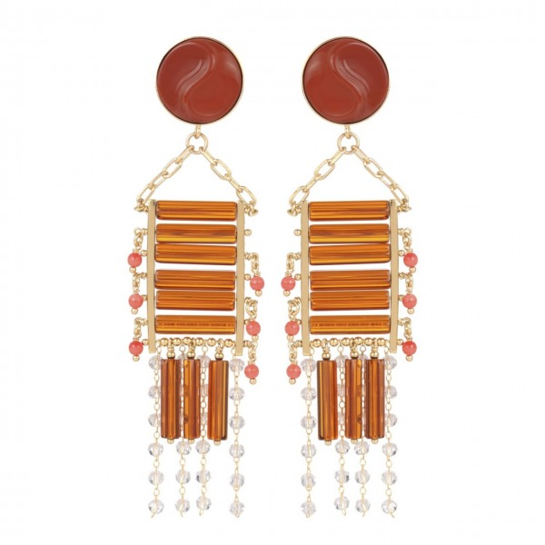 Odyssée long earrings
