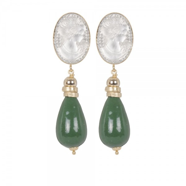 Earrings Perry cameo