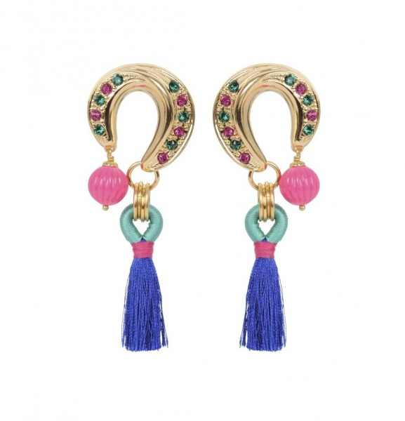Rio pompon earrings