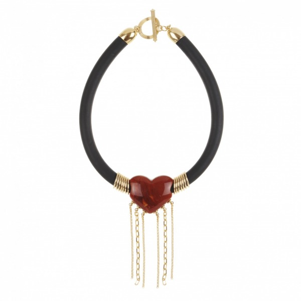 Heart necklace with chain