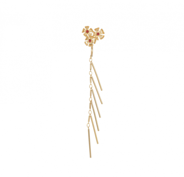 Aubépine gold single earrings